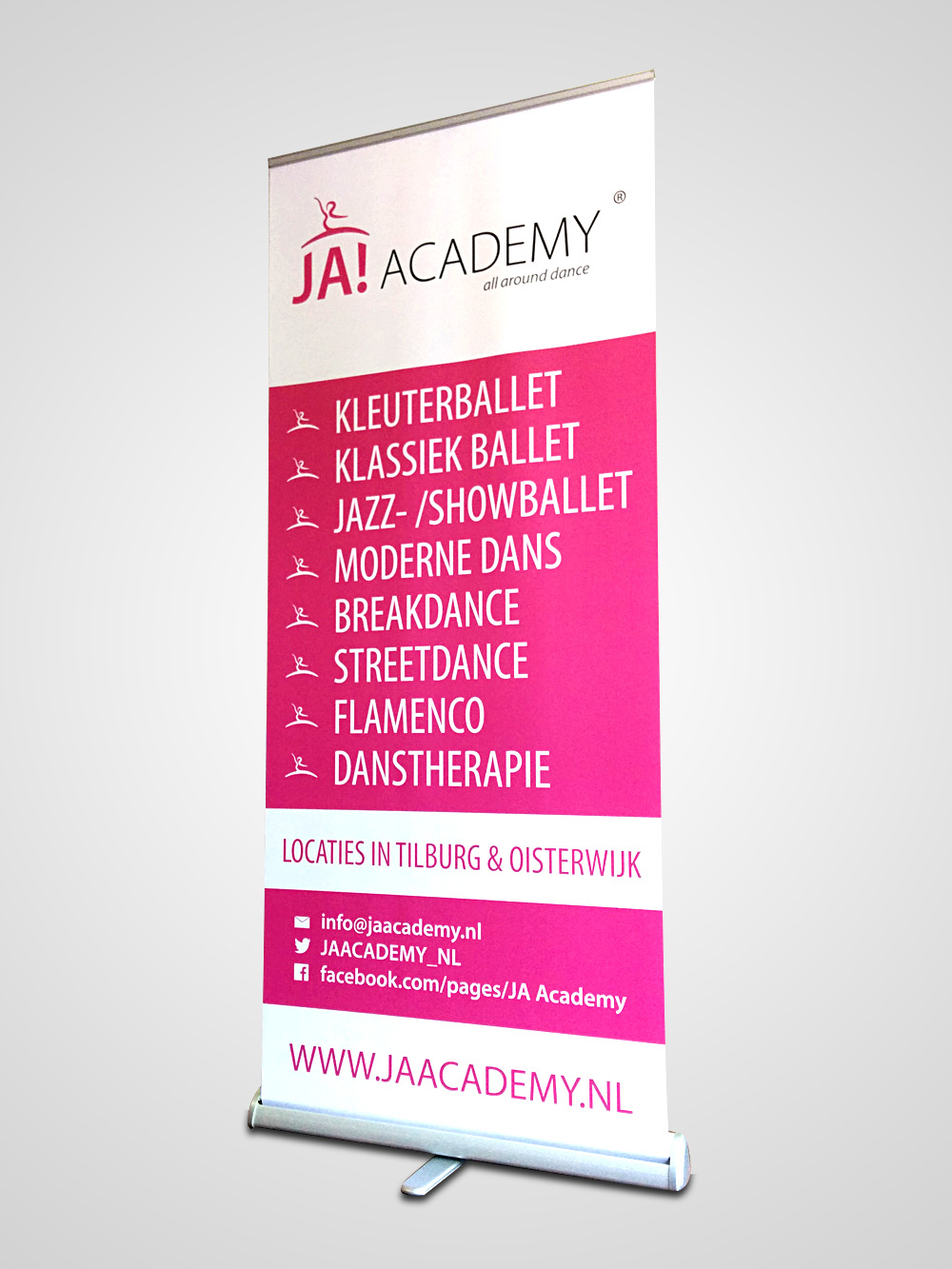 JA!Academy roll-up banner